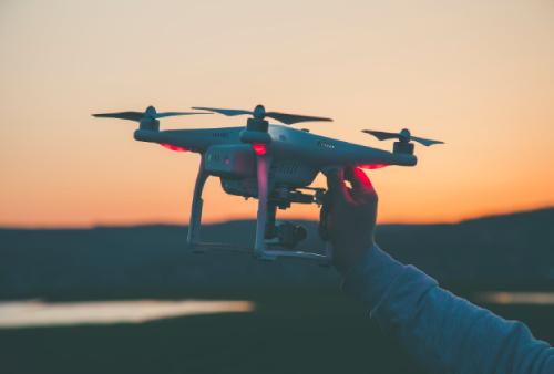 drone para hacer fotos en los viajes